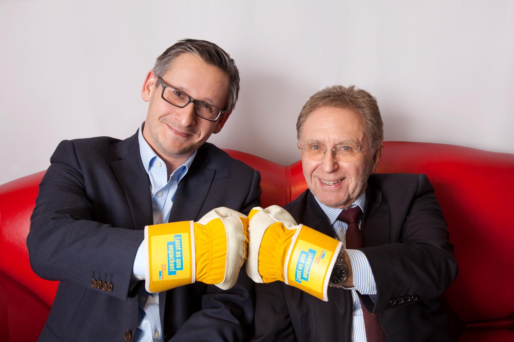 PD Dr. Peter Büttner (Vorsitzender des FDP Ortsverbandes Schlüchtern-Sinntal) und sein Stellvertreter, Patrick Ommert.