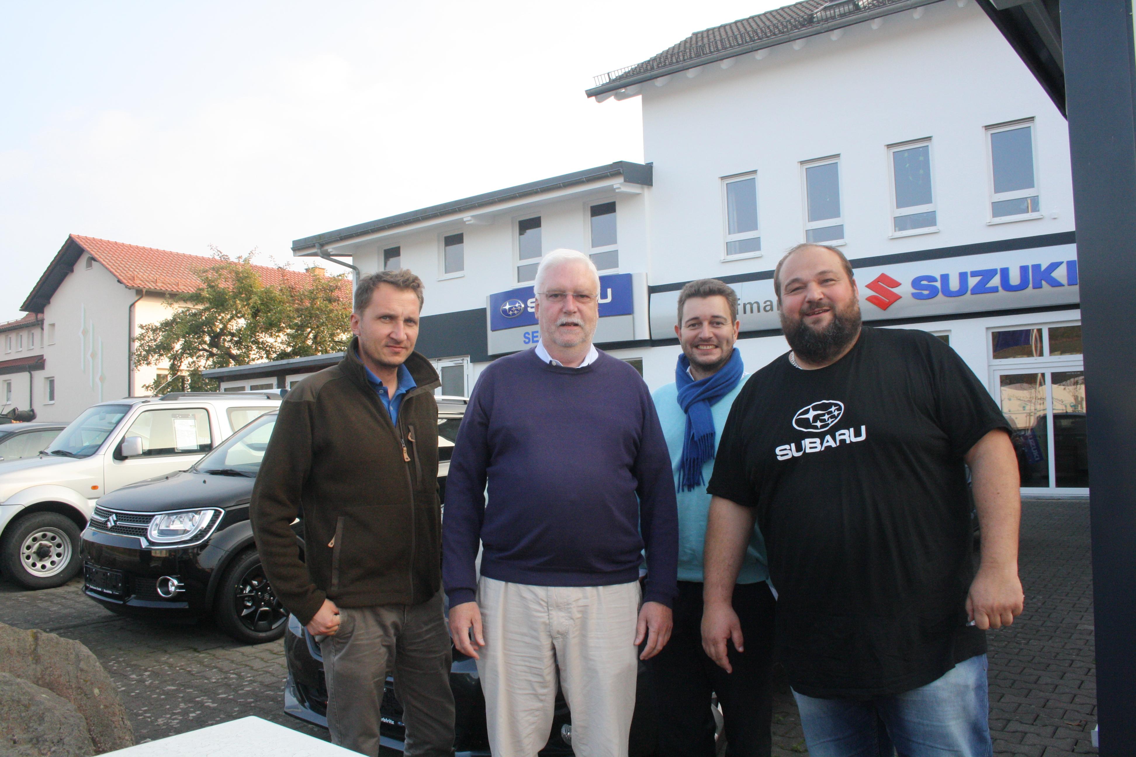 vlnr Alexander H. Klüh, Jörg-Uwe Hahn, Daniel Protzmann und Jan Kaufmann